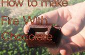Wie man Feuer machen mit Schokolade und kann