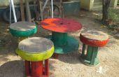 Tisch-Stuhl aus Schrott
