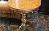 Pearl und Harz Tisch Makeover