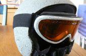 Rockhead snowboard-Helm und Brille