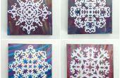 DIY-Schneeflocke Wandkunst
