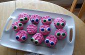 Gehirn und Zombie Cupcakes