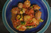 Wild-Wurst mit Spargel und gerösteten Tomaten