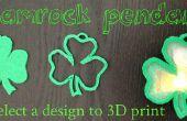 St. Patricks Day-3D-Druck Kleeblatt Anhänger