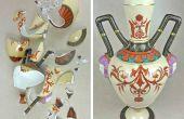 Ausbessern und gebrochenen Keramik und Töpferwaren zu füllen