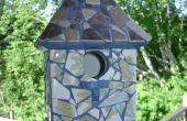 Super süße Vogelhaus aus gebrauchten oder defekten Fliese