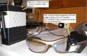 Brille montiert Videoanzeige auf ein Auge - verwandeln Sie sich in ein Borg
