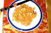 Wie erstelle ich Kimchi gebratener Reis mit Huhn