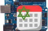 LCD-Uhr mit Datum im hebräischen Kalender und ein Thermometer