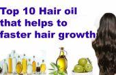 Top 10 natürliche Haaröl schneller Haarwachstum zu fördern