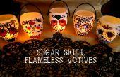 Sugar Skull flammenlose Votivkerzen