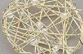 Draht gewickelt Circle Anhänger mit Perlen und Perlen