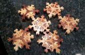 Hölzerne Snowflake Puzzle Stockingstuffers