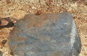 DIY-Becken/Vogelbad aus Stein