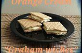 Keks-Sandwiches mit Orange Creme füllen