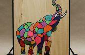 Einfache & Fun DIY-Bildschirm drucken Projekt auf Holz Tafel