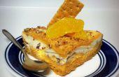 Orange und Schokolade Butter Toffee Ice Cream Pie