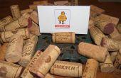 Wiederverwendung von Weinkorken, um lustig zu machen Tischkarten