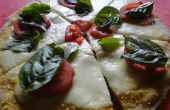 Gegrillte Pizza Capresse