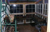 Gewächshaus, hergestellt aus Recycling-Windows