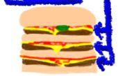 Billige dreifachen Cheeseburger von McDonalds