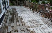Deck - reinigen wie man sauberen Deck mit Holz Reiniger und Hochdruckreiniger