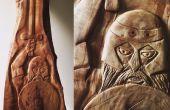 Schnitzen des keltischen Kriegers (nur Handtools)