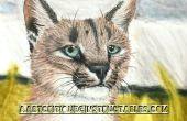 """DIY Schritt für Schritt """"Regenzeit"""" Caracal malen mit Pastellfarben und Velours Kreidepapier"""