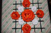 Papier Rosen mit Rahmen
