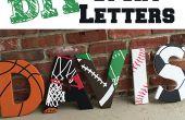 Unter dem Motto Holzbuchstaben Sport