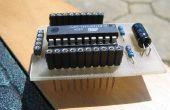 Mini-AVR-Board mit zusätzliche Boards
