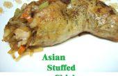 Asiatische gefüllte Hähnchen Vierteln