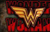 Wonder Woman Emblem - Holz und Harz