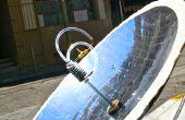 Aufbau einer parabolischen Solar-Warmwasser-Heizung mit 123D