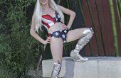 Lady Gaga amerikanische Flagge Kostüm