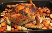 Orange-Ingwer-Miso Türkei mit gerösteten Gemüse