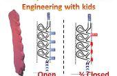 Machen eine modulare Tesla-Ventil aus Schaum Ton - eine gute Möglichkeit, Technik und Physik der Flüssigkeiten Kinder zeigen