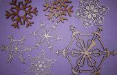 Schneeflocken Weihnachtsschmuck mit Laser-Cutter!