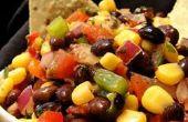 Schwarze Bohnen und Mais Salsa