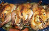 Cornish Hens mit Salbei und Knoblauch Braten