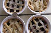 Niedlichen Mini-Kuchen: Apfel- und Kirschbäumen