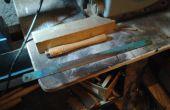 Drechseln Trennwerkzeug aus einer macht Säge Klinge + optional Old School Metal Scriber.