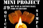 Mini-Projekt #9: DIY Wachs & Wattebausch Feuer Starter