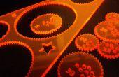 Lasercut-Spirograph-wie Spielzeug-Design