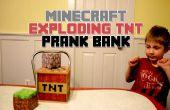 Minecraft, explodierende TNT Streich Bank (Holz Drucker-Image-Transfer)