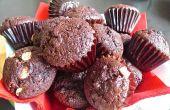Schokoladen-Muffins feucht