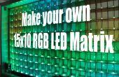 Machen Sie Ihre eigenen 15 x 10-RGB-LED-Matrix