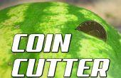Wie man eine Wassermelone in die Hälfte mit einer Münze geschnitten