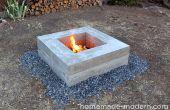 Hausgemachte modernen DIY Beton Feuerstelle