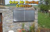 Solarluftkollektor für unser Steingarten bauen Haus Heizung